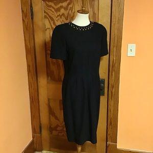 90s dressy classy studded Liz Claiborne dress